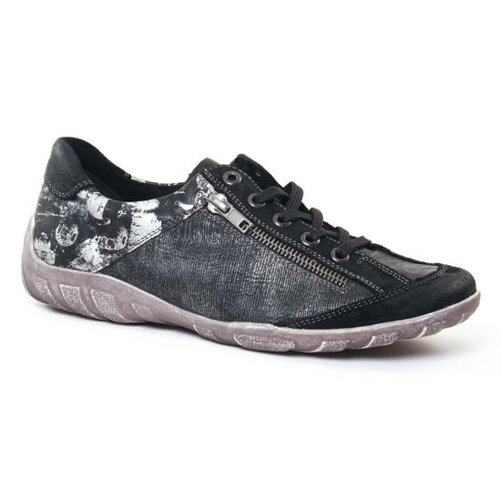 Tennis Et Baskets Mode Remonte R3417 Schwarz, vue principale de la chaussure femme