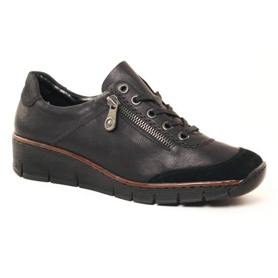Tennis Et Baskets Mode Rieker 53721 Noir, vue principale de la chaussure femme