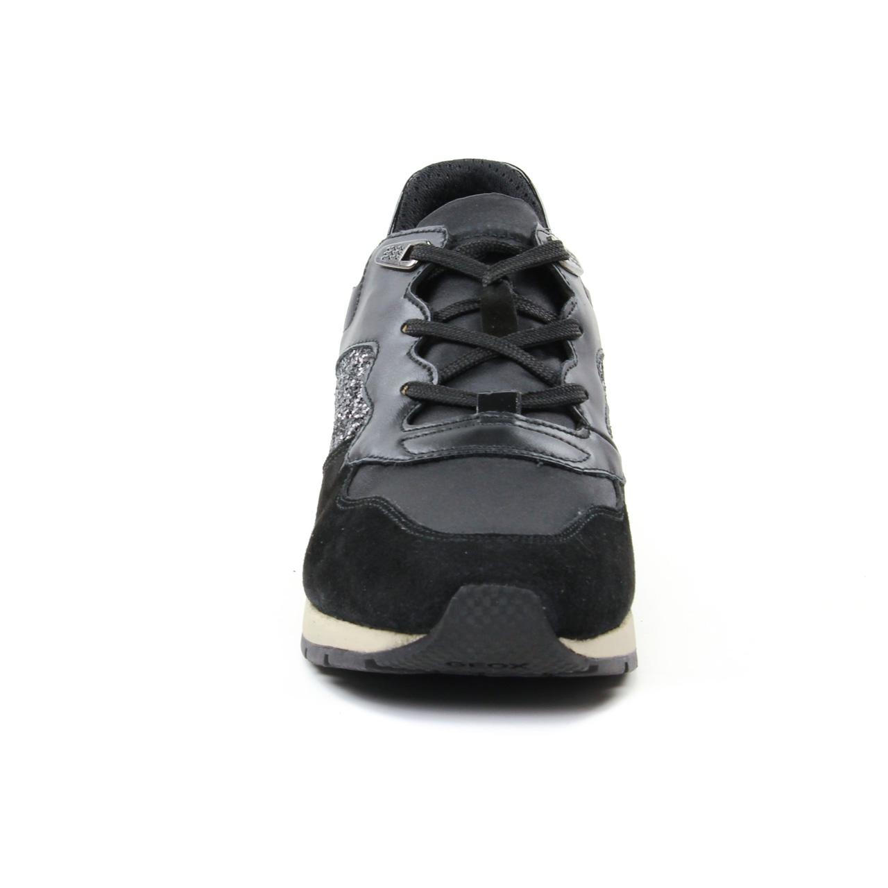 Geox D62N1B Black | basket mode noir automne hiver chez