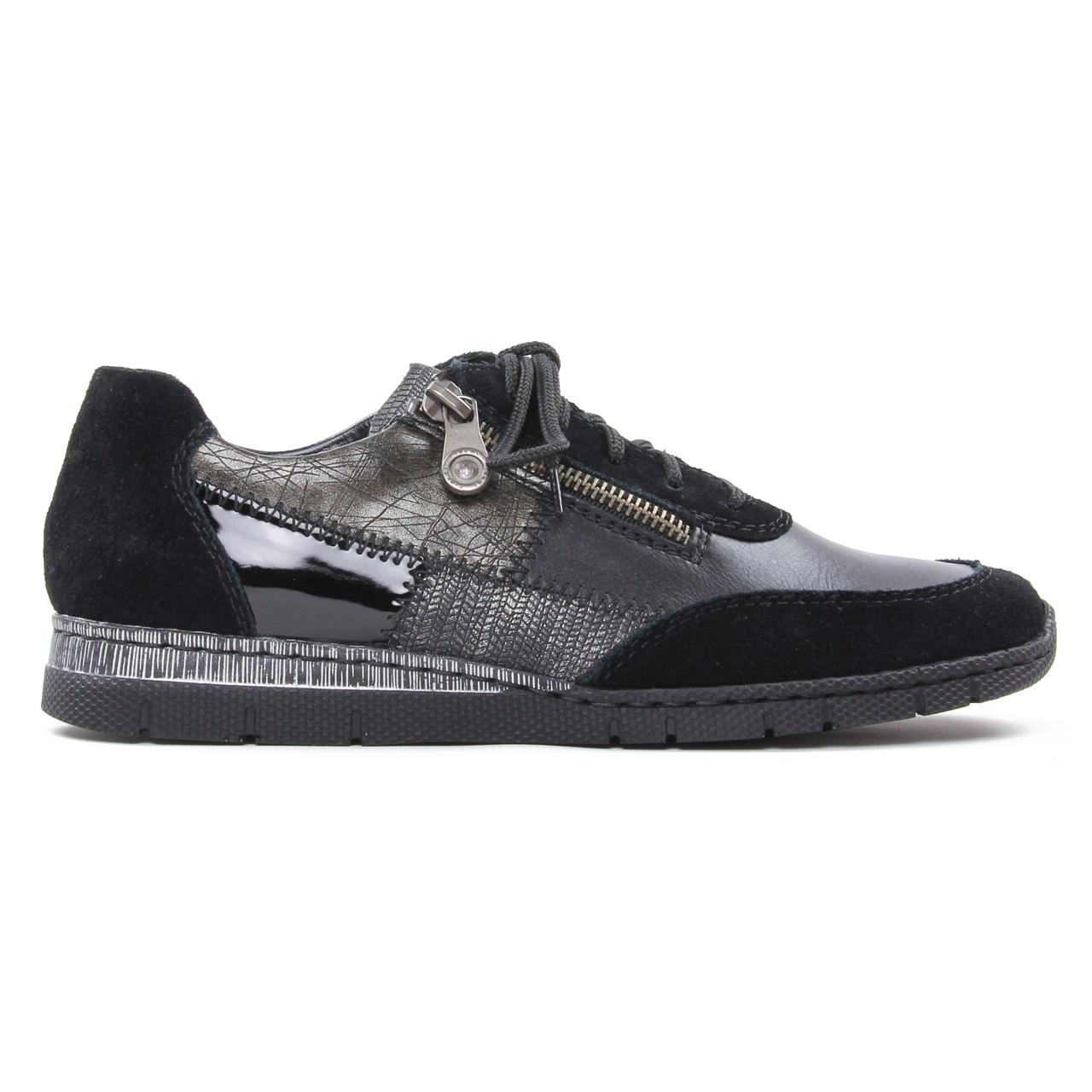Rieker N5320 00 Schwarz | basket mode noir gris automne