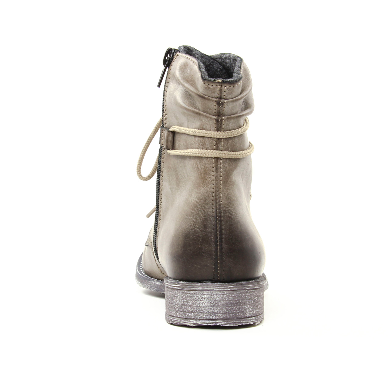 f9bd2f6c50b boots beige taupe mode femme automne hiver vue 7