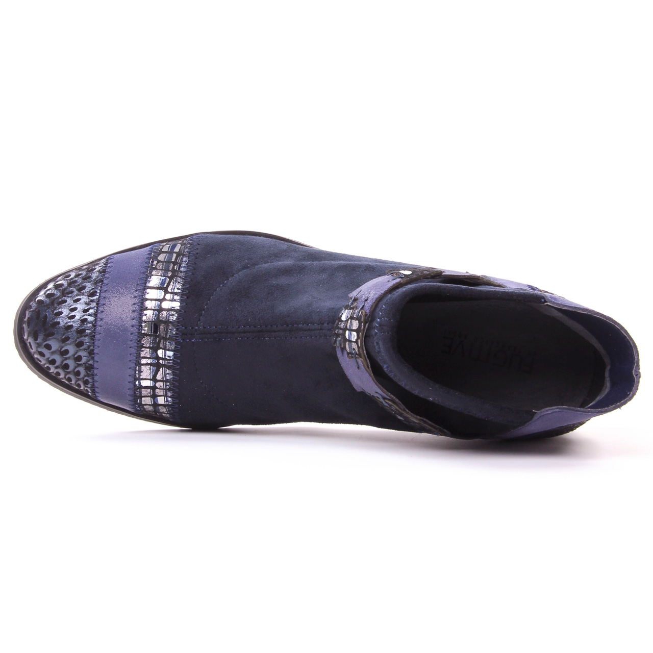 7ea463bece0 boots bleu marine mode femme automne hiver vue 4