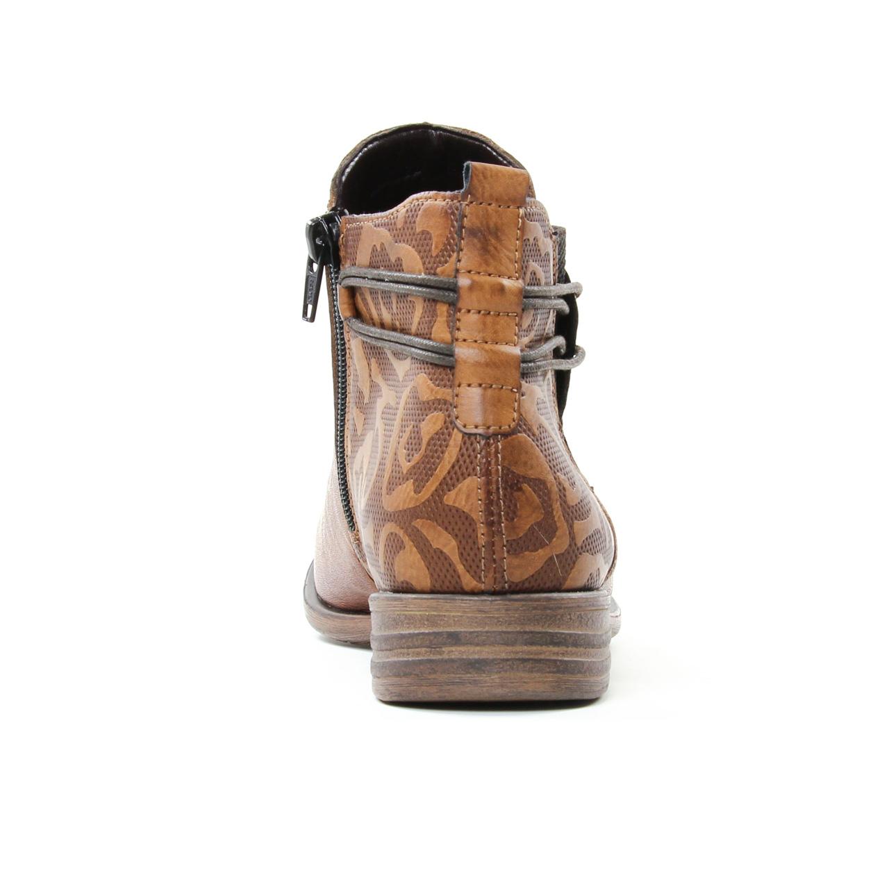 Remonte D4976 Cuoio | boot élastiquées marron doré automne