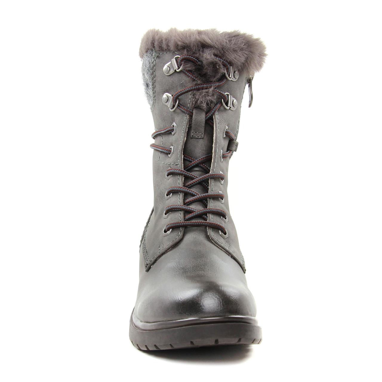 9a564a5db689e7 Tamaris 26221 Graphite | boot fourrées gris automne hiver 2018 chez ...