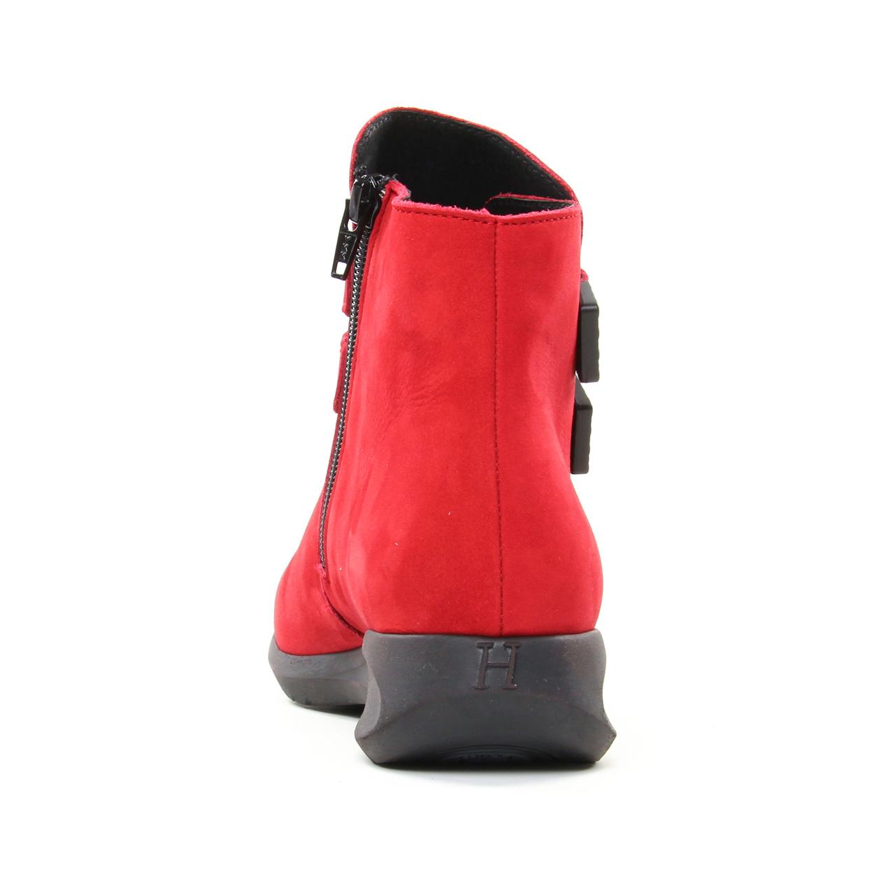 Hirica 38V3B5 Rouge | boots rouge automne hiver chez TROIS PAR 3