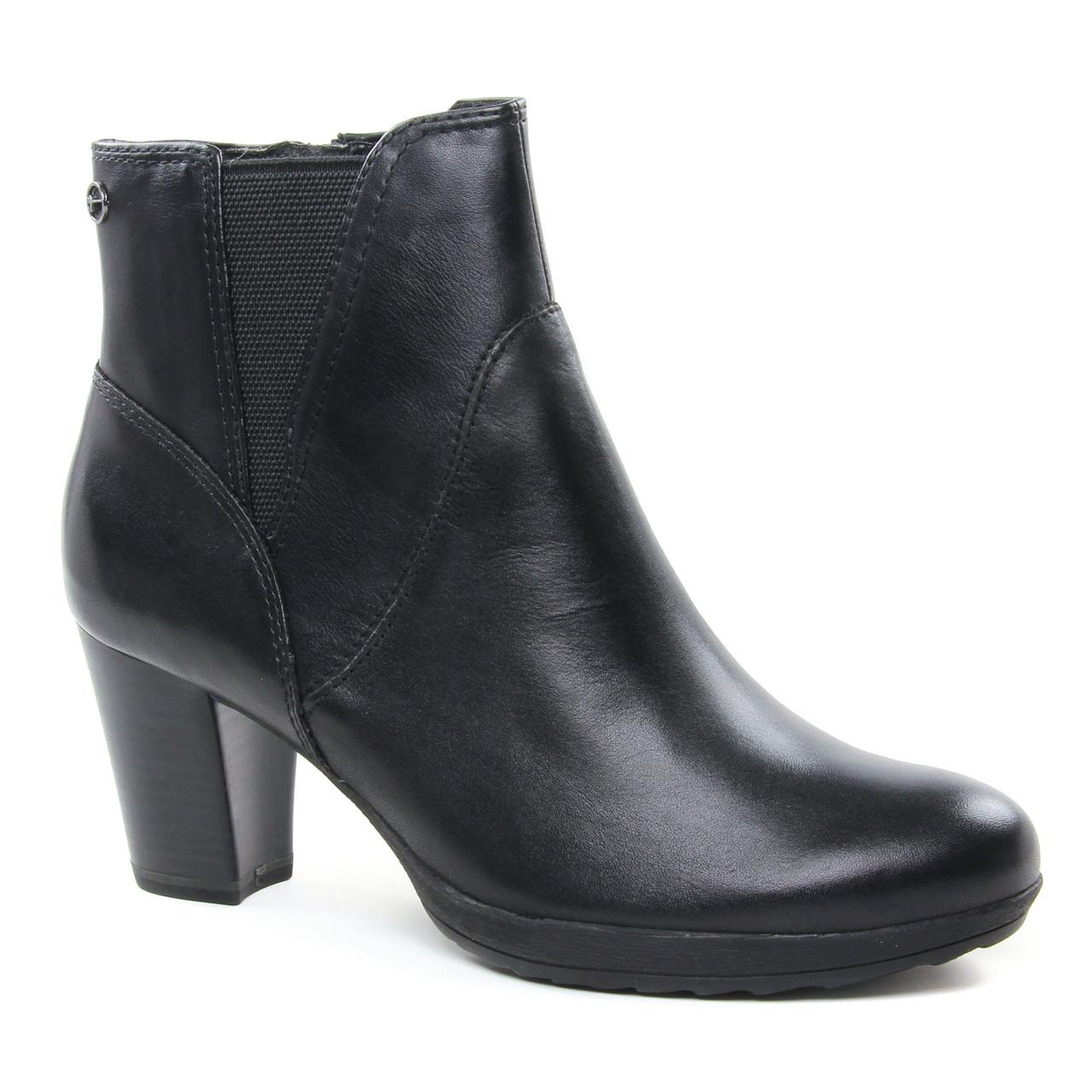 Tamaris 25324 Black   boot talon noir automne hiver chez