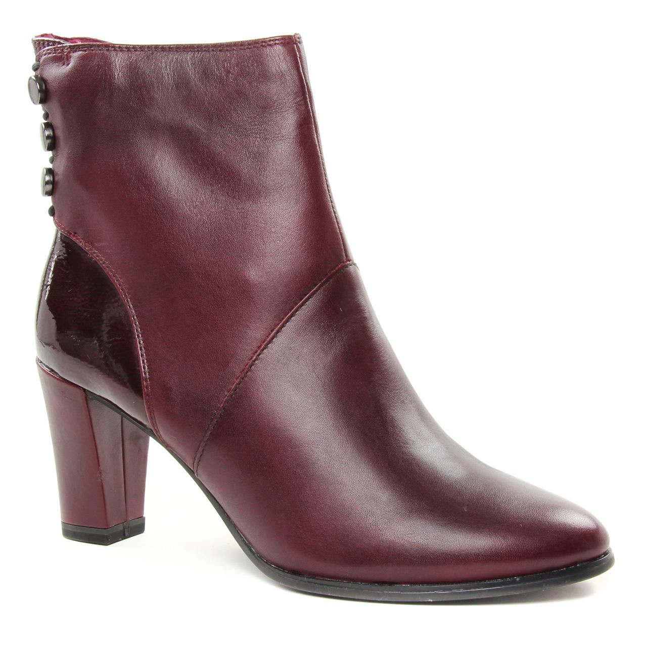 bf0a6d80035 boots talon rouge bordeaux mode femme automne hiver vue 1