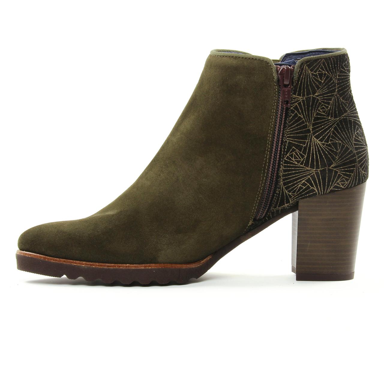 Dorking Thais D7224 Herb | boot talon vert doré automne