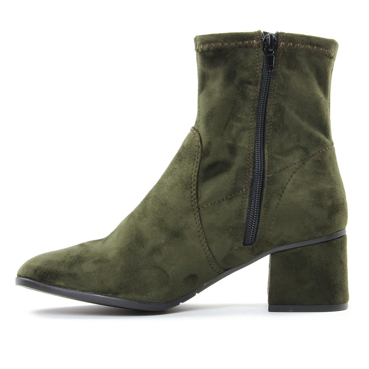 Tamaris 25945 Olive | boot talon vert automne hiver chez