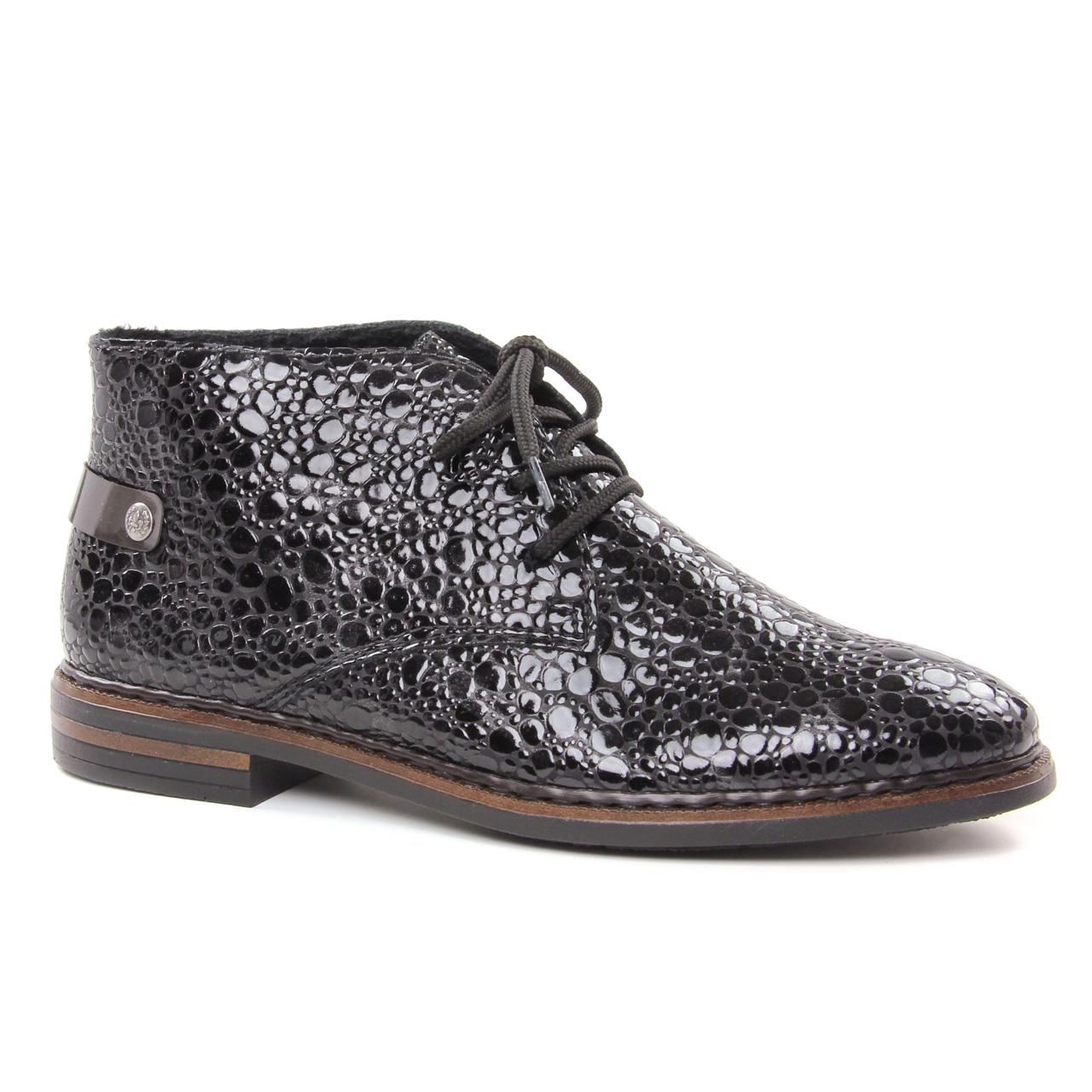 ed484d668d7bcd Rieker 50630-46 Granit   bottine à lacets noir gris automne hiver ...