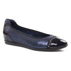 Chaussures femme hiver 2018 - ballerines confort tamaris bleu