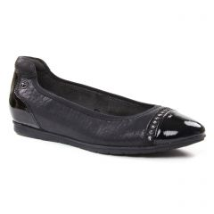 Chaussures femme hiver 2018 - ballerines confort tamaris noir