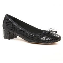 Chaussures femme hiver 2018 - ballerines talon Maria Jaén python noir