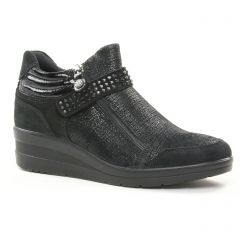 baskets-compensees noir: même style de chaussures en ligne pour femmes que les Gioseppo