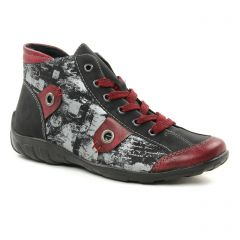 baskets-mode bordeaux argent: même style de chaussures en ligne pour femmes que les Remonte