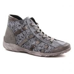 Remonte R3486-45 Fumo : chaussures dans la même tendance femme (baskets-mode gris) et disponibles à la vente en ligne