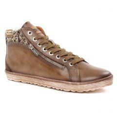 baskets-mode marron beige: même style de chaussures en ligne pour femmes que les Pikolinos
