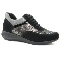 baskets-mode noir argent: même style de chaussures en ligne pour femmes que les Mtng