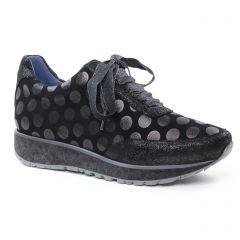 baskets-mode noir argent: même style de chaussures en ligne pour femmes que les Tamaris