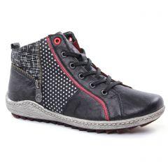 baskets-mode noir bordeaux: même style de chaussures en ligne pour femmes que les Rieker