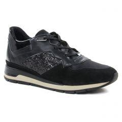 Chaussures femme hiver 2018 - baskets mode Geox noir