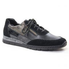 Chaussures femme hiver 2018 - baskets mode rieker noir gris