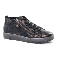 baskets-mode noir marron: même style de chaussures en ligne pour femmes que les Rieker