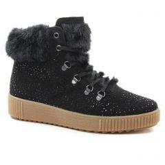 Chaussures femme hiver 2018 - baskets fourrées rieker noir