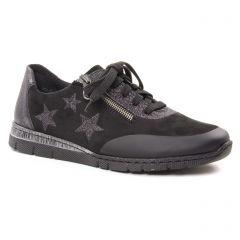 baskets-mode noir: même style de chaussures en ligne pour femmes que les Rieker