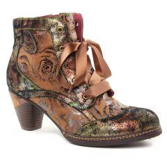 bottines-a-lacets beige multi: même style de chaussures en ligne pour femmes que les Marco Tozzi