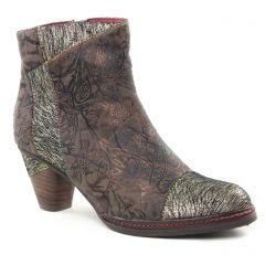 Chaussures femme hiver 2018 - boots Laura Vita marron argent multi