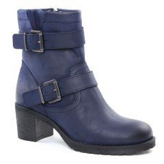boots bleu: même style de chaussures en ligne pour femmes que les Scarlatine