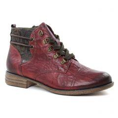bottines-a-lacets bordeaux: même style de chaussures en ligne pour femmes que les Remonte