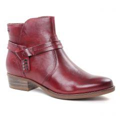 boots bordeaux: même style de chaussures en ligne pour femmes que les Tamaris