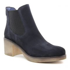 Chaussures femme hiver 2018 - boots élastiquées PintoDiBlu by CostaCosta bleu marine