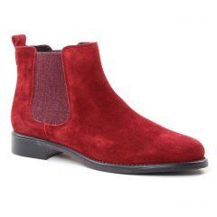 Chaussures femme hiver 2018 - boots élastiquées Scarlatine bordeaux
