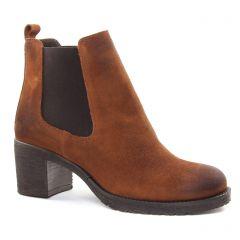 boots-chelsea marron: même style de chaussures en ligne pour femmes que les Mamzelle