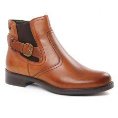 Chaussures femme hiver 2018 - boots élastiquées tamaris marron