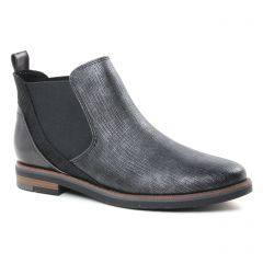 Chaussures femme hiver 2018 - boots élastiquées marco tozzi noir argent