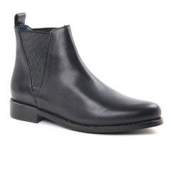 boots-chelsea noir argent: même style de chaussures en ligne pour femmes que les Carmela