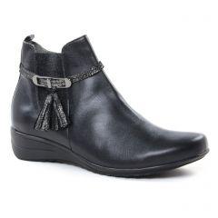 Chaussures femme hiver 2018 - boots élastiquées Geo Reino noir