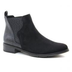 Chaussures femme hiver 2018 - boots élastiquées marco tozzi noir gris