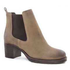 Chaussures femme hiver 2018 - boots élastiquées Scarlatine taupe