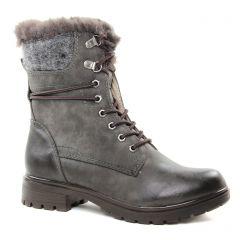 Chaussures femme hiver 2018 - boots fourrées tamaris gris