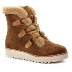 boots-fourrees marron: même style de chaussures en ligne pour femmes que les Les Tropéziennes