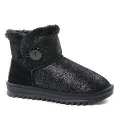 boots-fourrees noir argent: même style de chaussures en ligne pour femmes que les Les Tropéziennes