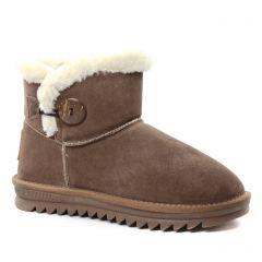 boots-fourrees taupe: même style de chaussures en ligne pour femmes que les Les Tropéziennes