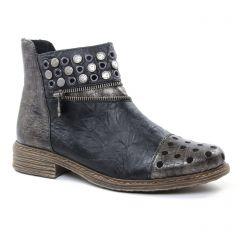 boots gris doré: même style de chaussures en ligne pour femmes que les Rieker