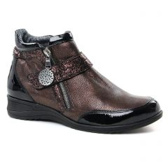 Chaussures femme hiver 2018 - boots Geo Reino marro doré