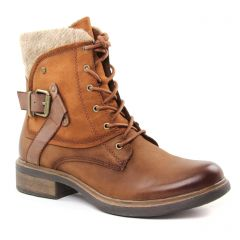 bottines-a-lacets marron beige: même style de chaussures en ligne pour femmes que les Tamaris